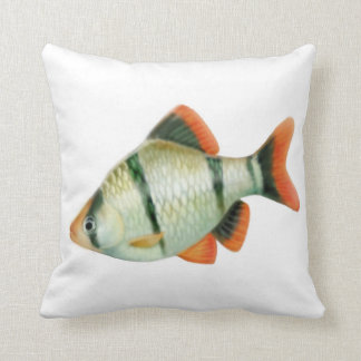 The Tiger Barb Fish Pillow Cushions