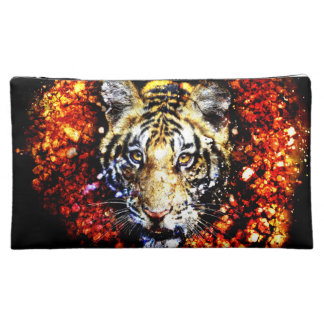 The tiger volcano cosmetics bags
