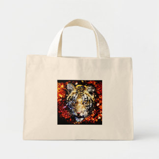 The tiger volcano mini tote bag