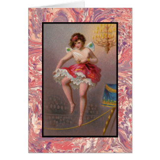 The Tightrope Ballerina Note Card