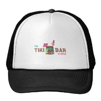 THE TIKI BAR IS OPEN CAP