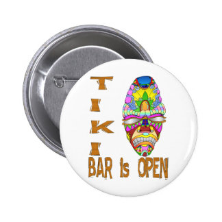 the TIKI BAR is OPEN Mask 6 Cm Round Badge