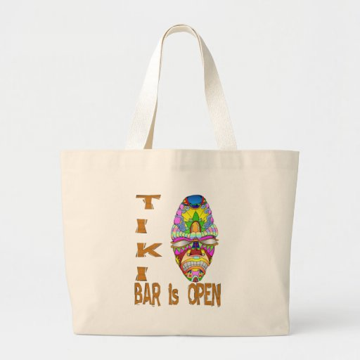 the TIKI BAR is OPEN Mask Canvas Bag