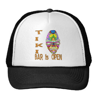 the TIKI BAR is OPEN Mask Cap