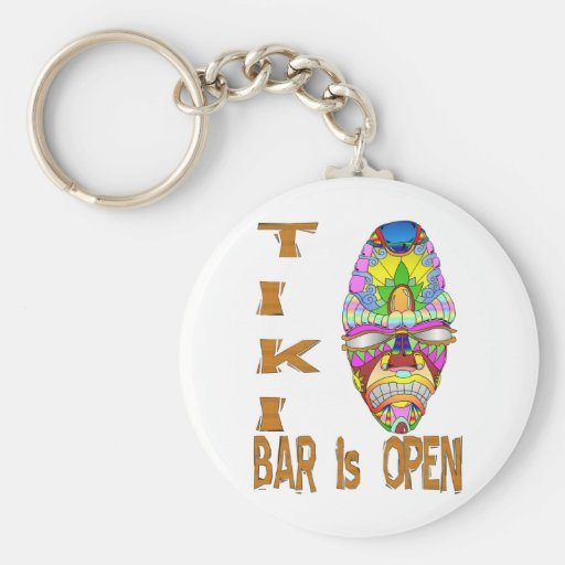 the TIKI BAR is OPEN Mask Key Chains