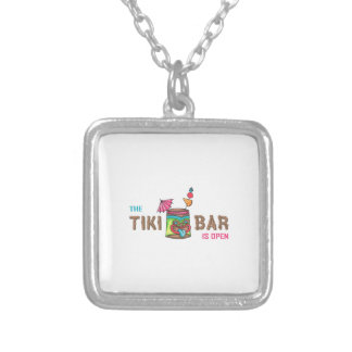 THE TIKI BAR IS OPEN PERSONALIZED NECKLACE