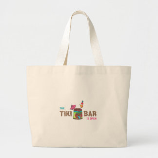 THE TIKI BAR IS OPEN TOTE BAGS