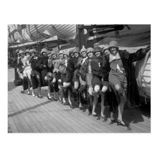 The Tiller Girls, early 1900s Postcard