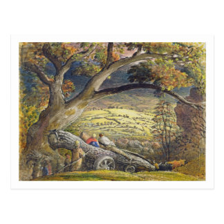 The Timber Wain, c.1833-34 (w/c & gouache on paper Postcard