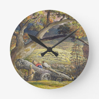 The Timber Wain, c.1833-34 (w/c & gouache on paper Round Clock