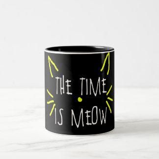 THE TIME IS MEOW MUG