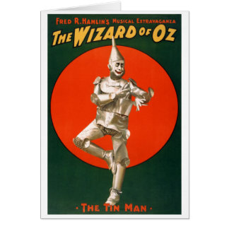 The Tin Man from The Wizard of Oz Greeting Cards