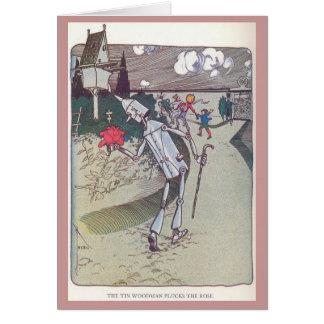 The Tin Woodman Plucks the Rose Card
