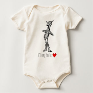 """The Tin Woodsman """"If I Only Had a Heart"""" Baby Bodysuit"""