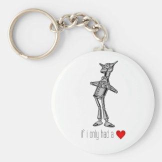 "The Tin Woodsman ""If I Only Had a Heart"" Basic Round Button Key Ring"