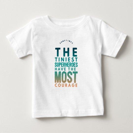 The tiniest Superhero Baby T-Shirt