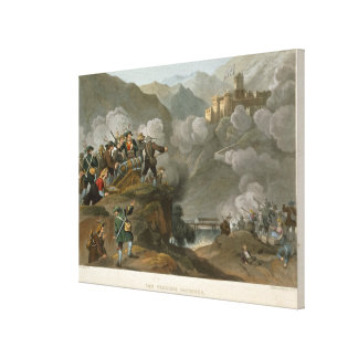 The Tirolese Patriots Storming the Fortress of Kuf Canvas Print