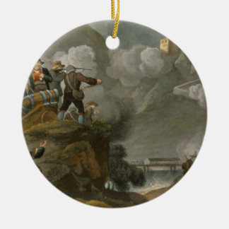 The Tirolese Patriots Storming the Fortress of Kuf Round Ceramic Decoration