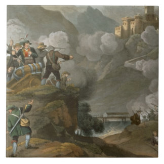 The Tirolese Patriots Storming the Fortress of Kuf Ceramic Tile