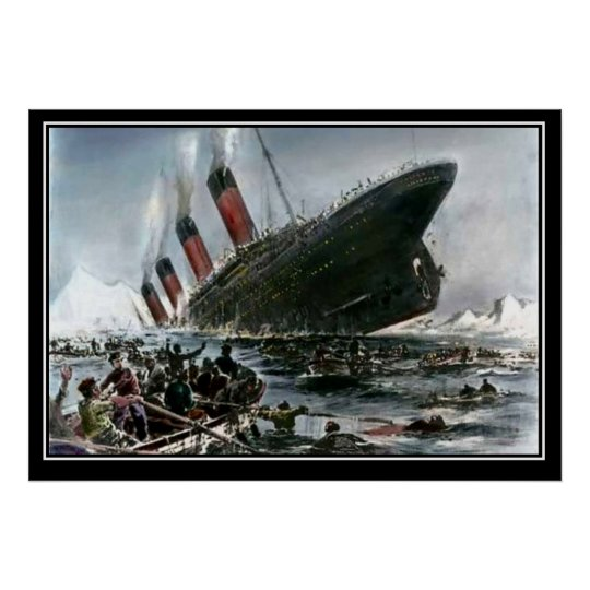 The Titanic Sinking Artist View titanic Series Poster