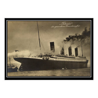 The Titanic vintage Photo Poster titanic Series