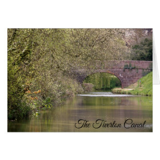 The Tiverton Canal, Devon, personalised Card