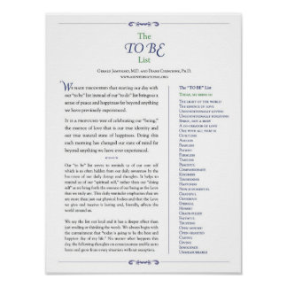 """The """"To Be"""" List Poster"""