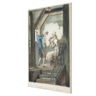The Toilet of an Attorney's Clerk, engraved by Phi Stretched Canvas Prints