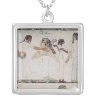 The Toilet of Noblewomen Silver Plated Necklace