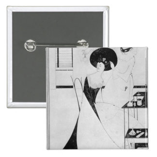 The Toilet of Salome 15 Cm Square Badge