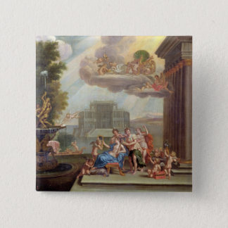 The Toilet of Venus, 18th century 15 Cm Square Badge