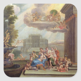 The Toilet of Venus, 18th century Square Sticker