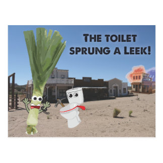 The Toilet Sprung a Leek! Postcard