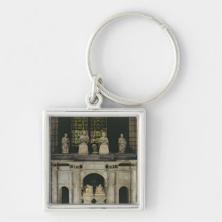 The Tomb of Francois I  and Claude of France Silver-Colored Square Key Ring