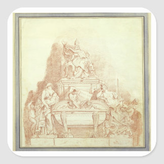 The Tomb of Pope Urban VIII (1568-1644) by Gianlor Square Sticker