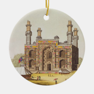 The Tomb of the Mughal emperor Akbar, from 'Le Cos Christmas Ornament