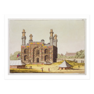 The Tomb of the Mughal emperor Akbar, from 'Le Cos Postcard