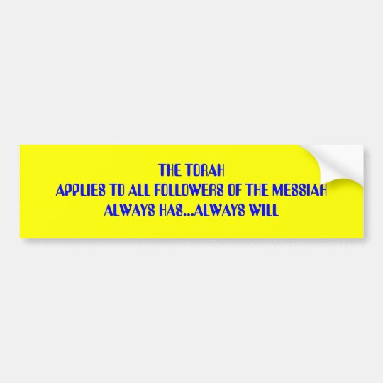 THE TORAH BUMPER STICKER