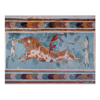 The Toreador Fresco, Knossos Palace, Crete Postcard