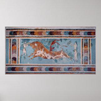 The Toreador Fresco, Knossos Palace, Crete Print
