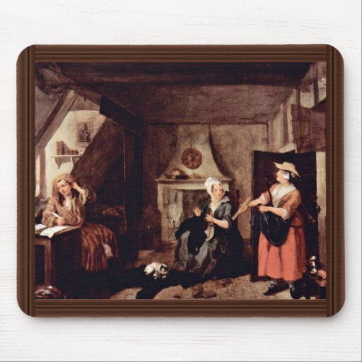 The Tormented Poet By Hogarth, William Mouse Pad