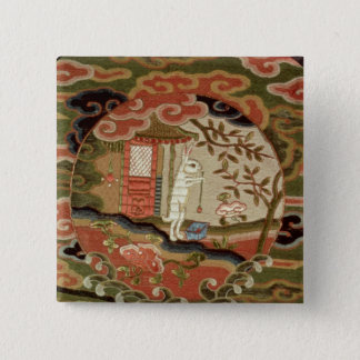 The Tortoise and the Hare, Edo Period 15 Cm Square Badge