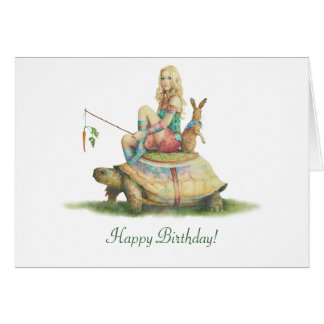 The Tortoise and the Hare, Happy Birthday Card