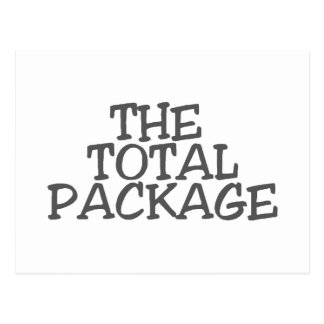 THE TOTAL PACKAGE POSTCARD