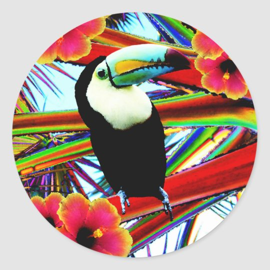 The toucan classic round sticker