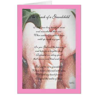 The Touch of a Grandchild Greeting Card