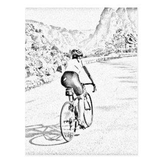 The tough hill climb postcard