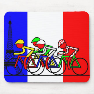 The Tour Arrives in Paris Mouse Mat