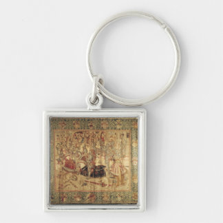 The Tournament, vertical loom tapestry Keychains
