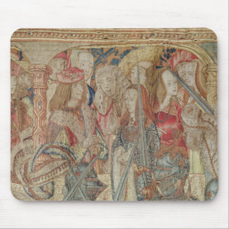 The Tournament, vertical loom tapestry Mouse Mat